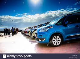citroen cars line of citroen cars blue day stock photo royalty free image