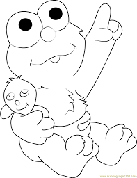baby elmo coloring page free sesame street coloring pages