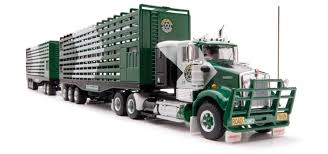 kenworth truck models highway replicas blue kenworth freight road train prime mover die