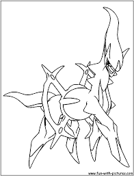 arceus coloring page crafts for boys pinterest pokemon