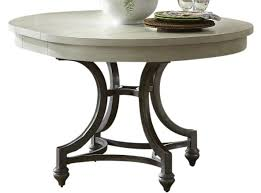 liberty furniture harbor view iii round dining table in dove gray