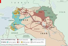 Iraq Syria Map by The Next War Against Global Jihadism