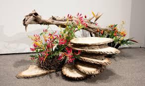 composition florale haute ikebana des compositions florales japonaises au musée canadien de