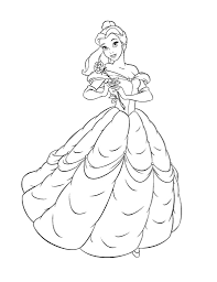 disney princess belle coloring pages within belle coloring pages