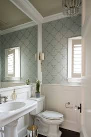 277 best wallpapered bathroom images on pinterest bathroom ideas wallpapered powder bath by studio m interiors