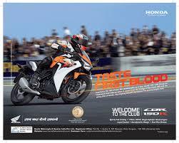 cbr 150 bike price taste first blood u0027 says honda for cbr 150r launch advertising