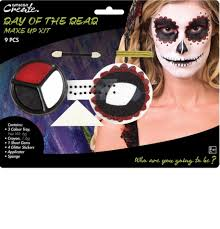 dead makeup halloween female day of the dead make up kit by amscan 9901426 karnival