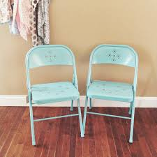 space saving dining room design with cheap teal metal folding