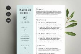 Cover Letter For Resume Resume U0026 Cover Letter Template Resume Templates Creative Market