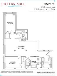 2 Bedroom 1 Bath Floor Plans Unit C 2 Bedroom 1 1 2 Bath 1 130 Sq Ft
