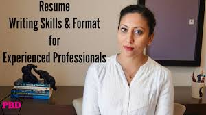 resume writing for experienced resume format for experienced professionals youtube resume format for experienced professionals