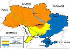 mapa fizyczna ukrainy