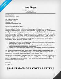 Sample Of Sales Manager Resume by Sales Manager Cover Letter Sample Resume Companion
