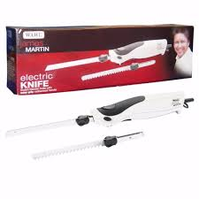 james martin wahl home electric kitchen knife with 2 blades white