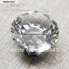 clear glass bedroom furniture dresser door kitchen crystal knobs