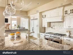Kitchen Interior Photo Beautiful New Kitchen Interior Island Sink Stock Photo 245146273