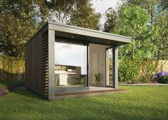 Backyard Office Prefab by Studio Sheds The Slough Home Features Timber Construction With