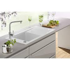 White Single Bowl Kitchen Sink : Cute Silver Color Kitchen