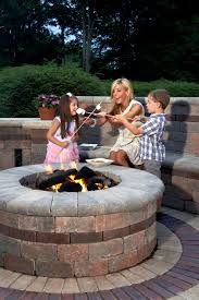 Patio Accents by Brussels Dimensional Fire Pit And Seat Wall With Copthorne