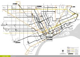 Public Transit Chicago Map by Detroit Transit History What U0027s New