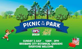 Brisbane City Botanic Gardens by Aflq150 Picnic In The Park Afl Queensland