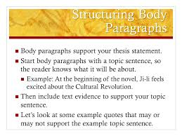 Writing The Red Scarf Girl Essay  Thesis First  let     s develop a     Text Evidence Which of the following quotes from the beginning of the novel best supports our