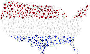 Untied States Map Clipart United States Map Flag Stars Enhanced 2 No Background
