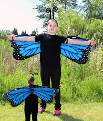 Wings Halloween Costume Delight Blue Morpho Butterfly Wings Costume