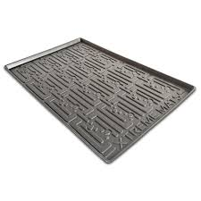 What Is The Best Shelf Liner For Kitchen Cabinets by Xtreme Mats Grey Kitchen Depth Under Sink Cabinet Mat Drip Tray