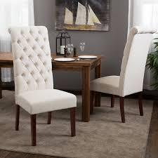 amazon com best selling natural tall tufted dining chair 2 pack