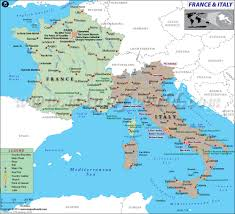 Map Of Italy Regions by Of France And Italy