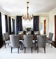 ornate brass chandelier for glamorous dining room interior design