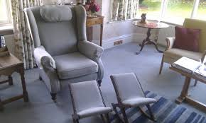 Wingback Rocking Chair Furniture How To Reupholster A Wingback Chair With Decoration On