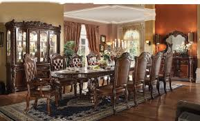 Acme Furniture Dining Room Set Acme Vendome Double Pedestal Dining Table With Two Leaves In