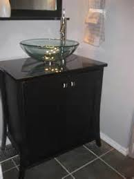 Painted Black Bathroom Vanity Painting A Bathroom Vanity Black - Black bathroom vanity with vessel sink
