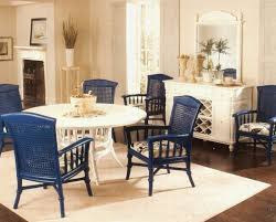 Elegant Dining Room Furniture by Nice Home With Wicker Dining Chairs Indoor Elegant Blue Painted