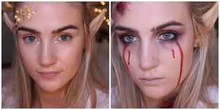 good elf to bad elf halloween makeup tutorial youtube