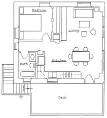 image of studio apartment above garage plansdeck over house plans