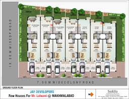 House Floor Plan Row House Plans With Dimensions Best Row House Design Download