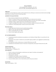 Sample Resume For Mechanical Design Engineer by Job Mechanic Job Description Resume