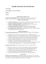 Resume Template For Customer Service  customer service resume