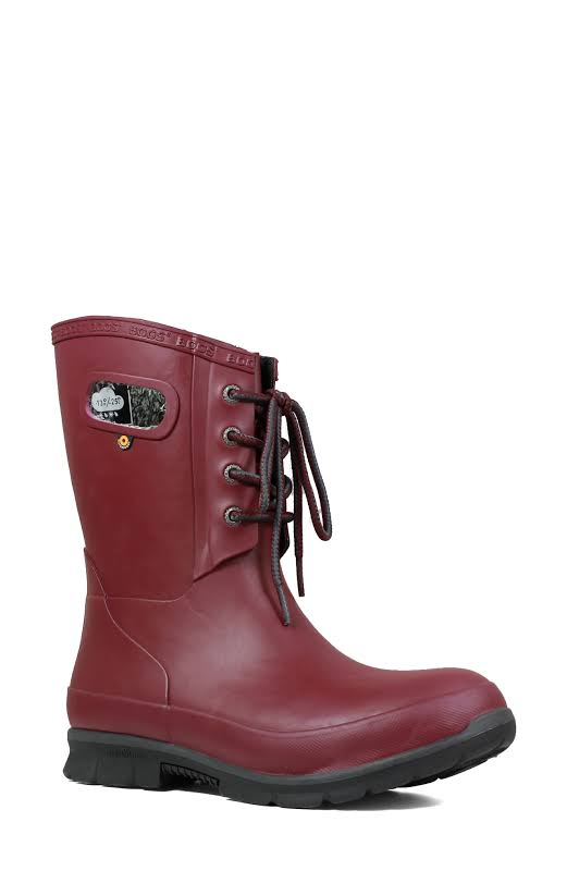 Amanda Plush Lace Boot (Burgandy)-7