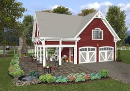 carriage house plan with elbow room 20055ga architectural