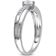 halloween wedding rings miabella 1 4 carat t g w created white sapphire and diamond