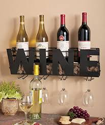 Precious Large Metal Letters For Wall Decor Amazon Com Premium Black Wall Mount Metal Wine Rack With U201cwine