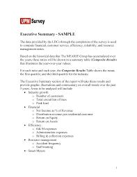 Executive Summary Resume Example Template Executive Summary On Resume Skills Summary Resume Sample Free