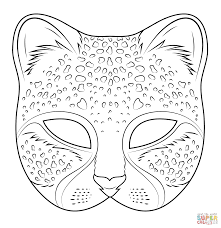 halloween cat mask cutout within coloring page eson me