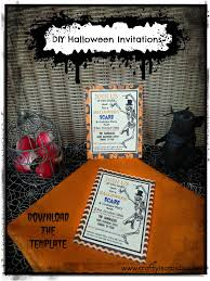 crafty in crosby halloween party invitations with template