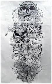 Tattoo Designs Half Sleeve Ideas Best 25 Skull Sleeve Tattoos Ideas That You Will Like On