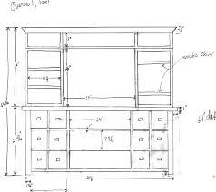 furniture plans tv cabinet